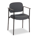 BASYX BSXVL616VA19 Vl616 Series Stacking Guest Chair With Arms, Charcoal Fabric