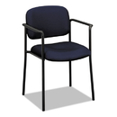 BASYX BSXVL616VA90 Vl616 Series Stacking Guest Chair With Arms, Navy Fabric