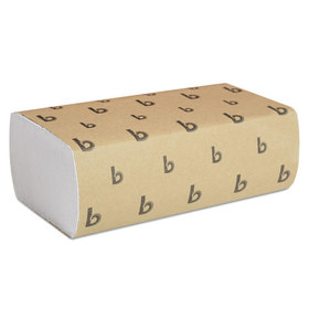 LAGASSE, INC. BWK6200 Multifold Paper Towels, White, 9 x 9 9/20, 250 Towels/Pack, 16 Packs/Carton, Price/CT