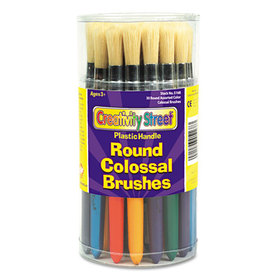 Colossal Brush, Natural Bristle, Round, 30/Set