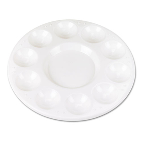 Round Plastic Paint Trays for Classroom, White, 10/Pack, Price/PK
