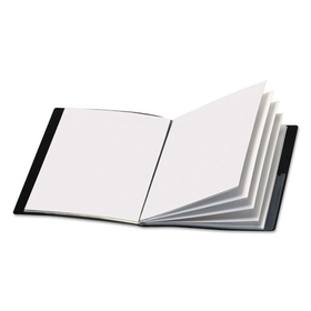 Showfile Display Book W/Custom Cover Pocket, 12 Letter-Size Sleeves, Black, Price/EA