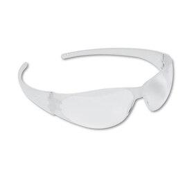 CREWS, INC. CRWCK100 Checkmate Wraparound Safety Glasses, CLR Polycarb Frm, Uncoated CLR Lens, 12/Box