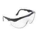 CREWS, INC. CRWTK110 Tomahawk Wraparound Safety Glasses, Black Nylon Frame, Clear Lens, 12/box