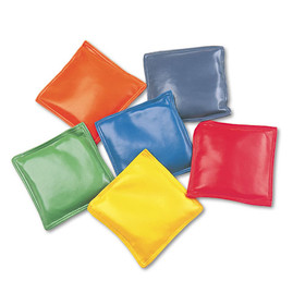 "Bean Bag Set, Vinyl, 4"", Assorted Colors, 6/Set"