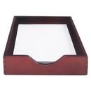 ADVANTUS CORPORATION CVR07213 Hardwood Letter Stackable Desk Tray, Mahogany