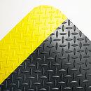CROWN MATS & MATTING CWNCD0035YB Industrial Deck Plate Anti-Fatigue Mat, Vinyl, 36 X 60, Black/yellow Border