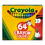 Crayola CYO52064D Classic Color Pack Crayons, Assorted 64/Box