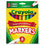 Crayola CYO587708 Non-Washable Markers, Broad Point, Classic Colors, 8/Set