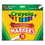 Crayola CYO587712 Non-Washable Markers, Broad Point, Assorted Colors, 12/set