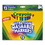 Crayola CYO587812 Washable Markers, Broad Point, Classic Colors, 12/set