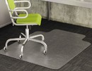 DEFLECTO CORPORATION DEFCM13433F Duramat Moderate Use Chair Mat For Low Pile Carpet, Beveled, 46x60 W/lip, Clear