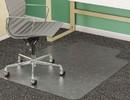 DEFLECTO CORPORATION DEFCM14233 Supermat Frequent Use Chair Mat, Medium Pile Carpet, Beveled, 45x53 W/lip, Clear