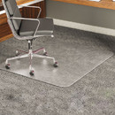 DEFLECTO CORPORATION DEFCM17233 Execumat Intense All Day Use Chair Mat For High Pile Carpet, 45x53 W/lip, Clear