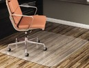 DEFLECTO CORPORATION DEFCM21442F Economat Anytime Use Chair Mat For Hard Floor, 46 X 60, Clear