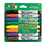 DIXON TICONDEROGA CO. DIX92080 White System Dry Erase Marker, Chisel Tip, Assorted Colors, 8/Set