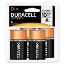 DURACELL PRODUCTS COMPANY DURMN1300R4Z Coppertop Alkaline Batteries With Duralock Power Preserve Technology, D, 4/pk