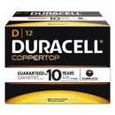 DURACELL PRODUCTS COMPANY DURMN1300 Coppertop Alkaline Batteries With Duralock Power Preserve Technology, D, 12/box