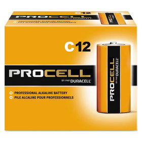 Procell Alkaline Batteries, C, 12/Box, Price/BX