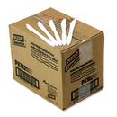 DIXIE FOOD SERVICE DXEPKM21 Plastic Cutlery, Mediumweight Knives, White, 1000/carton