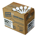 DIXIE FOOD SERVICE DXESH217 Plastic Cutlery, Heavyweight Soup Spoons, White, 1000/carton