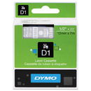 DYMO DYM45020 D1 High-Performance Polyester Removable Label Tape, 1/2
