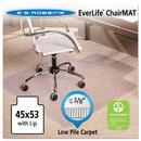 E.S. ROBBINS ESR128173 45x53 Lip Chair Mat, Multi-Task Series Anchorbar For Carpet Up To 3/8