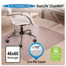 E.S. ROBBINS ESR128371 46x60 Rectangle Chair Mat, Multi-Task Series Anchorbar For Carpet Up To 3/8