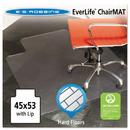 E.S. ROBBINS ESR132123 45x53 Lip Chair Mat, Multi-Task Series For Hard Floors, Heavier Use