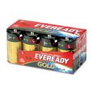 EVEREADY BATTERY EVEA958 Gold Alkaline Batteries, D, 8 /pk