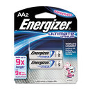 EVEREADY BATTERY EVEL91BP2 Lithium Batteries, Aa, 2/pack