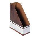 FELLOWES MANUFACTURING FEL07223 Corrugated Cardboard Magazine File, 4 X 9 X 11 1/2, Wood Grain, 12/carton