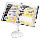 FELLOWES MANUFACTURING FEL22300 Reference Rack, Plastic, Letter, 10 Pockets, Platinum