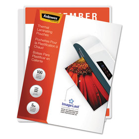 FELLOWES MANUFACTURING FEL52040 Laminating Pouches, 5 mil, 11 1/2 x 9, 100/Pack, Price/PK
