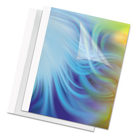 FELLOWES MANUFACTURING FEL52220 Thermal Binding System Covers, 30 Sheets, 11 x 8 1/2, Clear/White, 10/Pack, Price/PK