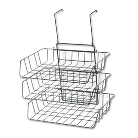Wire Partition Additions Three-Tray Organizer, 13 1/2 X 11 7/8, Black, Price/EA