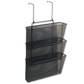 Mesh Partition Additions Three-File Pocket Organizer, 12 5/8 x 16 3/4, Black, Price/EA