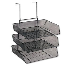 FELLOWES MANUFACTURING FEL75902 Mesh Partition Additions Three-Tray Organizer, 11 1/8 x 14 x 14 3/4, Black, Price/EA