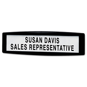 Plastic Partition Additions Nameplate, 9 X 2 1/2, Graphite, Price/EA