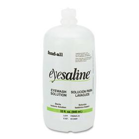 UVEX SAFETY, INC. FND3200045500EA Fendall Eye Wash Saline Solution Bottle Refill, 32 oz, Price/EA