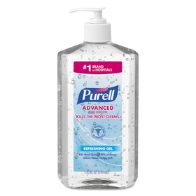 Hand Sanitizer, 20-oz. Pump Bottle, 12/Carton, Price/CT