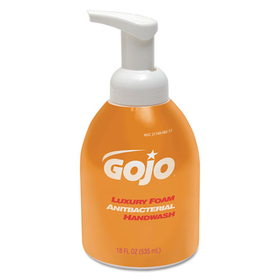 GO-JO INDUSTRIES GOJ576204 Luxury Foam Antibacterial Handwash, Orange Blossom, 18oz Pump, 4/Carton