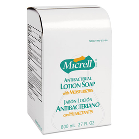 MICRELL Antibacterial Lotion Soap Refill, Unscented Liquid, 800ml, 12/Carton, Price/CT