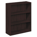HON COMPANY HON105533NN 10500 Series Laminate Bookcase, Three-Shelf, 36w X 13-1/8d X 43-3/8h, Mahogany