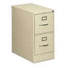 HON COMPANY HON512PL 510 Series Two-Drawer Full-Suspension File, Letter, 29h X25d, Putty
