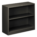HON COMPANY HONS30ABCS Metal Bookcase, Two-Shelf, 34-1/2w X 12-5/8d X 29h, Charcoal