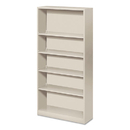 HON COMPANY HONS72ABCQ Metal Bookcase, Five-Shelf, 34-1/2w X 12-5/8d X 71h, Light Gray