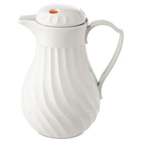 Poly Lined Carafe, Swirl Design, 40 oz. Capacity, White, Price/EA