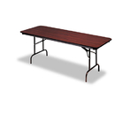 ICEBERG ENTERPRISES ICE55214 Premium Wood Laminate Folding Table, Rectangular, 60w X 30d X 29h, Mahogany