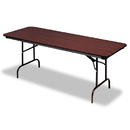 ICEBERG ENTERPRISES ICE55224 Premium Wood Laminate Folding Table, Rectangular, 72w X 30d X 29h, Mahogany